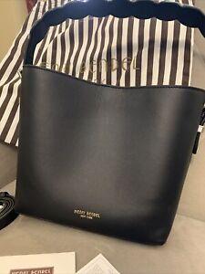 Henri Bendel Satchel Leather Surrey Mini Bucket Handbag Black