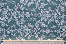 Stoff Baumwolle-Polyester beschichtet, Cadiz, Ornamente helles petrol/weiß140 cm