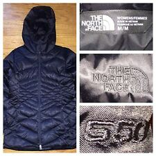 The North Face Women's 550 Down Fill Long Black Coat Parka Size Medium
