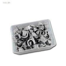 100 Nagelschellen grau, für Kabel max Ø12mm Kabelschelle Nagelclip Kabelschellen
