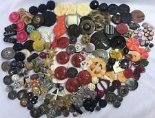 Button Lot Vintage Antique Metal Picture Bakelite MOP China Steel Celluloid Sets
