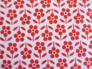 POCKET FULL OF POSIES Red Flowers on White Quality Quilting Cotton WYNDHAM