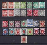 DANZIG GERMANY 1924-1937, Sc#168-192, CV $600+, MNH/MH