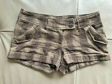 Hot Pants 20% wool Brown with shiny threads