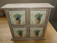 BRAND NEW 4 DRAWER HERBES DE PROVENCE CABINET COUNTRY LOOK