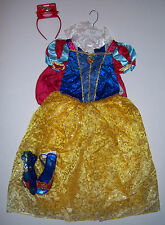 NWT Disney Store Size 10 Snow White Costume Dress Headband & Light-Up Shoes