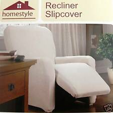 "RECLINER COVER ""STRETCH"" PIQUE-LARGE-LAZY BOY---BLACK---4 PC-VISIT OUR STORE"