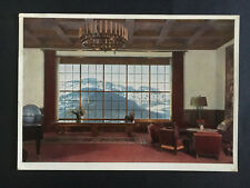 1939 Germany Obersalzburg Postcard Cover Leaders Home Living Rm Rppc