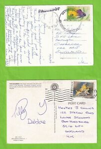 BBB4493 Bahamas 12 different stamped covers postcards mainly UK;  1972 - 1996
