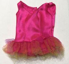 Vintage Barbie Dolls Prima Ballerina Pink Satin Tulle Ballet Tutu #1787 Mattel