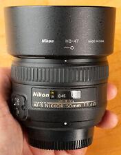 Used Nikon NIKKOR 2180 50mm f/1.4G 1:1.4G AF-S M/A Normal Lens with Hood!