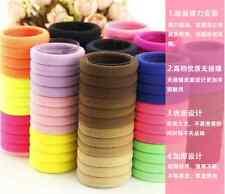 HR18 10PC Lots Girls elastic hair ties band rope ponytail bracelets scrunchie