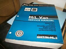 "1996 M/L VAN ""SERVICE MANUAL"" BOOK 2 0F 2 GMT/96-ML-2"