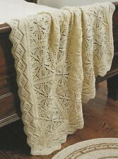 Knitting Pattern ~ Romantic Lace Afghan ~ Instructions