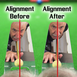 Snooker,Pool & Billiards Training  Aid For a True Cue Action WATCH VIDEO !