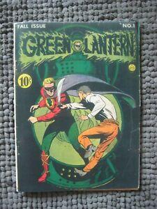 Green Lantern #1 RARE GOLDEN AGE GREEN LANTERN 1941 COVERLESS & INCOMPLETE(0.1)