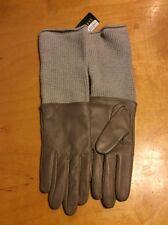 LAUREN RALPH LAUREN  LEATHER/KNIT Gloves Taupe #219