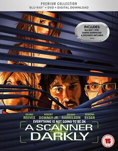 A SCANNER DARKLY ( 2006 KEANU REEVES ) HMV PREMIUM COLLECTION BLURAY DVD SEALED