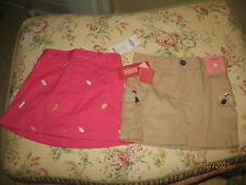 Lot of 2 Girls Skirts Skorts Gymboree - Nwt - Adorable Pink Ice Cream Tan