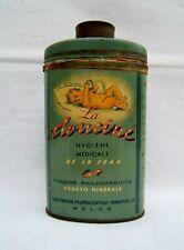 Boite De Talc Art Deco Publicitaire Pharmacie Ancienne 1930 Vintage French Tin