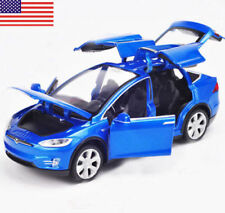 1:32 Scale Diecast Blue X90 Tesla Car Model Toy Gift W/ Light & Sound US STOCK