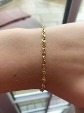 9ct (375) Yellow Gold Anchor Chain Bracelet 19cm / 7 1/2 inch NEW in BOX