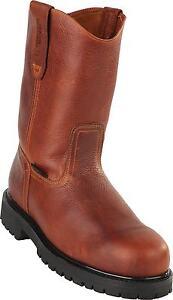 Men's Original Michel Steel Toe Western Work Boots Industrial Rubber Sole