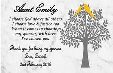 Personalised Thank You For Being My Confirmation Sponsor Plaque Gift