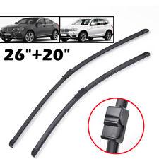 """Pair LHD Front Window Windshield Wiper Blades Fit For BMW X3 F25 X4 F26 26""""+20"""""""