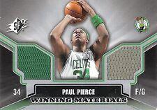 Paul Pierce 2005-06 Upper Deck SPX Winning Materials Dual Jersey Patch Celtics