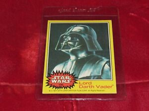 Star Wars Series 3 (Yellow) Topps 1977 Trading Card # 196 Lord Darth Vader Super