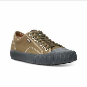 Polo Ralph Lauren   Xander Low-Top Olive Sneakers   Size 7.5