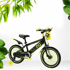 "Yellow 16""Unisex Chidren Kids BMX Bike Outdoor Riding Toys With Safe Riding Gear"