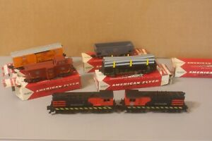 American Flyer Train Set eng 21808 working, 982 Deluxe Caboose Lot TK15