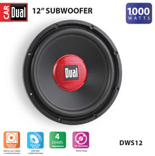 Dual Electronics DWS12 12-inch High Performance Subwoofer with a 2-inch Single V