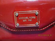 Michael Kors Womens Ladies Red and Gold Phone Case Wallet Wristlet - NWOT