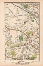 1933 LONDON MAP-STONEBRIDGE PARK,HARLESDEN,EAST ACTON,ACTON