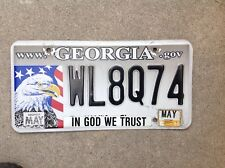 "GEORGIA - ""BALD EAGLE"" - LICENSE PLATE - GIVE WILDLIFE A CHANCE"