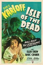 IL VAMPIRO DELL'ISOLA ISLE OF THE DEAD MANIFESTO HORROR BORIS KARLOFF ELLEN DREW