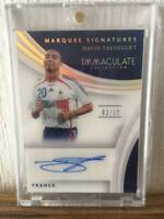 PANINI David Trezeguet Autographed Immaculate Soccer Card 2017 France NM 3/10