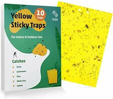 Sticky Traps Dual-Sided Yellow Sticky For Fungus Gnats Aphids Other Flying Plant