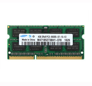 Samsung 4GB 2RX8 PC3-8500S DDR3-1066MHz 204PIN Laptop Memory SO-DIMM RAM CL8