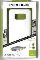 PureGear DualTek Pro Extreme Impact Case for Samsung S8 ,White/Clear