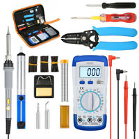 LIUMY 10PcsTips 60W Electronic Soldering Iron Kit Adjustable Temp   NEWq