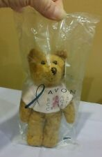 "Avon Breast Cancer Crusade Beanie Bear w/Pink Ribbon Shirt, 7"" in Sealed Bag"
