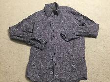 Rodd & Gunn Mens Purple Floral Long Sleeve Button Shirt Size Large Genuine