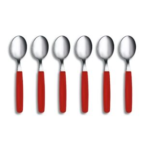 VICTORINOX RED TABLE SPOON SET 6 Spoons Cutlery Table Dinner SET 6