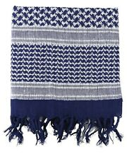 Blue/White Tactical Arab Shemagh Scarf 100% Cotton