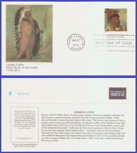 USA5 #3236k U/A FLEETWOOD FDC   American Art George Catlin
