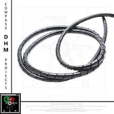 Gaine spirale de 8 mm noir bobine
